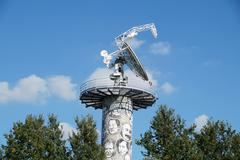 Radio telescope is a form of directional  antenna used in  astronomy. satellite Stock Photos