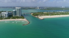 Haulover Inlet Miami aerial video Stock Footage