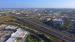 Aerial vide of Orlando interstate I4 Stock Footage