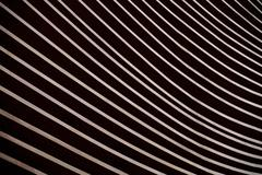 Modern architecture facade detail showing a wooden wall paneling Stock Photos