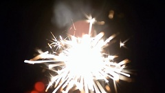 Burning sparklers. A sense of celebration Stock Footage