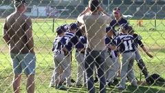 A little league baseball boys team. Stock Footage