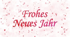 """Happy New Year text in German """"Frohes neues Jahr"""" formed from dust and turns to Stock Footage"""