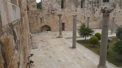 The courtyard of an ancient palace of the Turkish Stock Footage