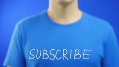 Erase the word SUBSCRIBE Stock Footage