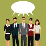 People team work communication talking Stock Illustration