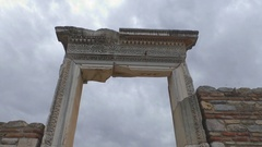 Ancient ruins and temples at Ephesus as the ethnic heritage of our ancestors Stock Footage