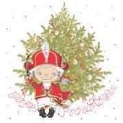 Nutcracker with christmas tree Piirros