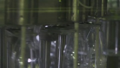 Machine for bottling milk at dairy Stock Footage