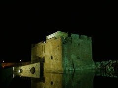 Paphos Cyprus Medieval Castle Stock Footage