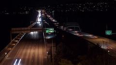 Lake Washington Bridge Timelapse Stock Footage