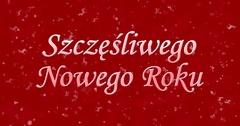 """Happy New Year text in Polish """"Szczesliwego Nowego Roku"""" formed from dust and Stock Footage"""
