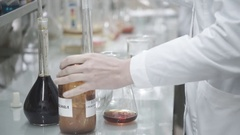 Chemical Laboratory Test Tubes Stock Footage
