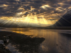 Alaska Sunbeam Clouded Spirit Sensation 4K DCI Stock Footage