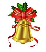 Christmas decoration with bow Stock Illustration