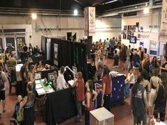 People visit the International Tattoo Convention, Tel Aviv, Israel Stock Footage