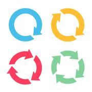 Four arrow reload icons Stock Illustration