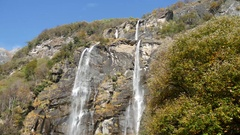 Waterfall Acquafraggia in the Alps Stock Footage
