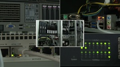 Mix of operation of internet providers Stock Footage