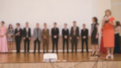 Presentation of certificates to the pupil Stock Footage