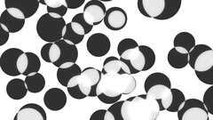 Translucent overlapping circles of varying sizes Stock Footage