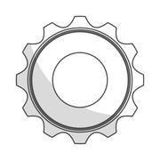 Gear wheel icon Stock Illustration