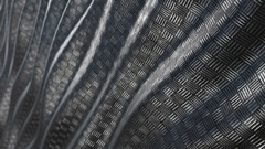 Metallic pattern abstract wave background loop Stock Footage