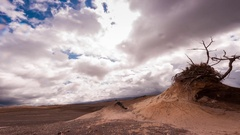 Sunny to stormy time-lapse, Tongariro National Park, North Island, New Zealand Stock Footage