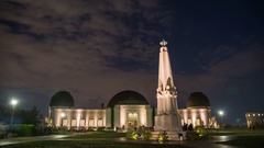 Timelapse of Griffith Observatory Los Angeles Stock Footage
