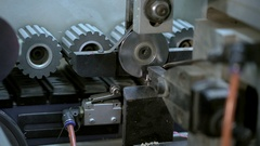 Furniture manufacturing. View from working shop Stock Footage