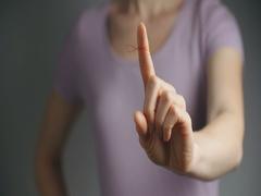 Reminder Knot on Finger Stock Footage