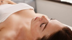 Face Massage Close-up of a Woman in Spa Stock Footage