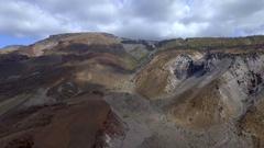 AI Aerial Green Volcano Flight Stock Footage