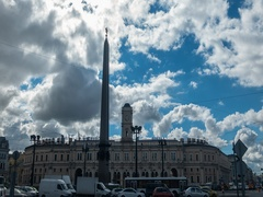 Moscow Rail Terminal and The Hero-City Obelisk of Leningrad Stock Footage