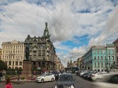Singer House in Saint Petersburg, Russia Stock Footage