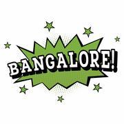 Bangalore. Comic Text in Pop Art Style. Stock Illustration