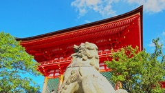 Exterior gate of Kiyomizu-dera Shrine at dawn Stock Footage