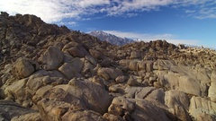 Sierra Nevada Mts Aerial Shot of Mount Whitney and Rocky Desert Stock Footage
