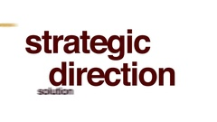 Strategic direction animated word cloud. Stock Footage