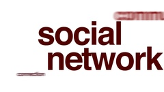 Social network animated word cloud. Stock Footage