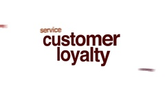 Customer loyalty animated word cloud. Stock Footage