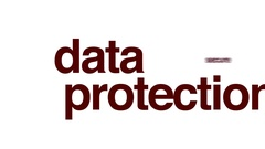 Data protection animated word cloud. Stock Footage