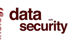 Data security animated word cloud. Arkistovideo