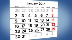 Calendar Year passing pages Stock Footage