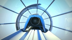 Magnetic train in the tonnel Stock Footage
