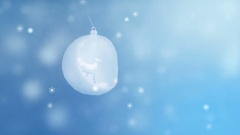 Christmas background. Christmas balls and snowflakes Stock Footage