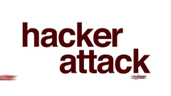 Hacker attack animated word cloud. Stock Footage