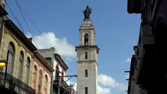 Bell tower of the Church and Convent of Our Lady of Carmen (Senora del Carmen) Stock Footage