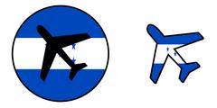 Nation flag - Airplane isolated - Honduras Stock Illustration