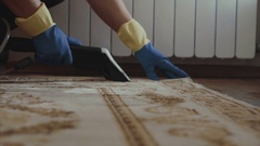 Cleaning carpet service Stock Footage